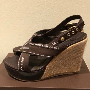 Louis Vuitton Shoes - Louis Vuitton Wedges sz8.5US